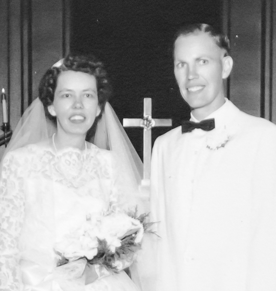 Arnold Sidney Thorin and June Martinsen on their wedding day in 1958.
