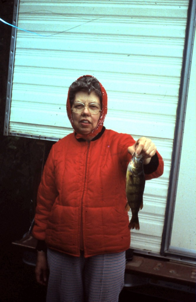 June Martinsen with a fish.